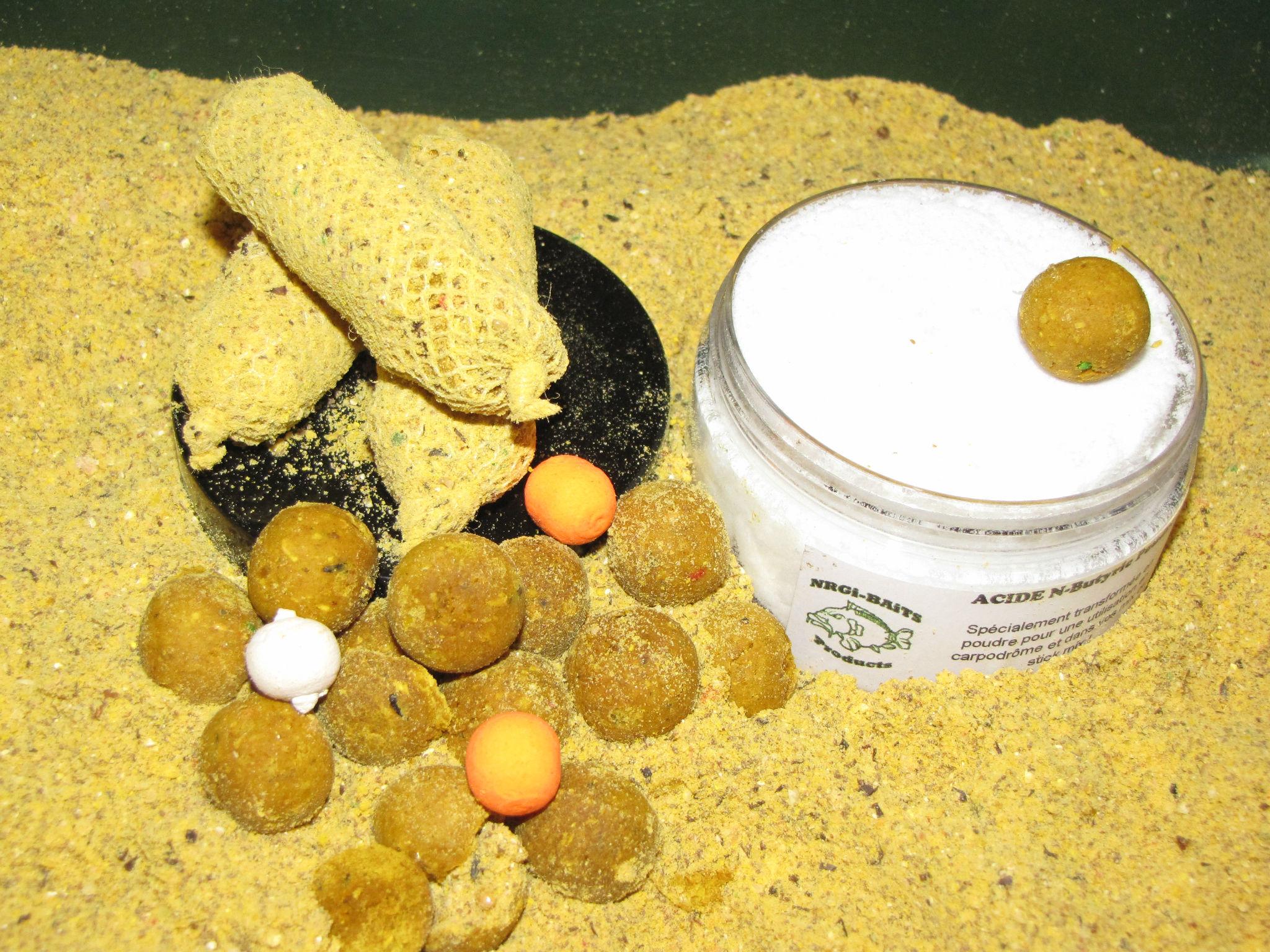 Acide n Butyrique pour les bouillettes pour pêcher la carpe
